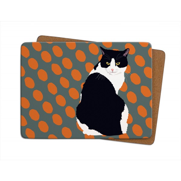 Black & White Cat Placemat
