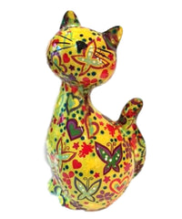 Lime Green Ceramic Pomme Pidou Caramel Cat Money Box