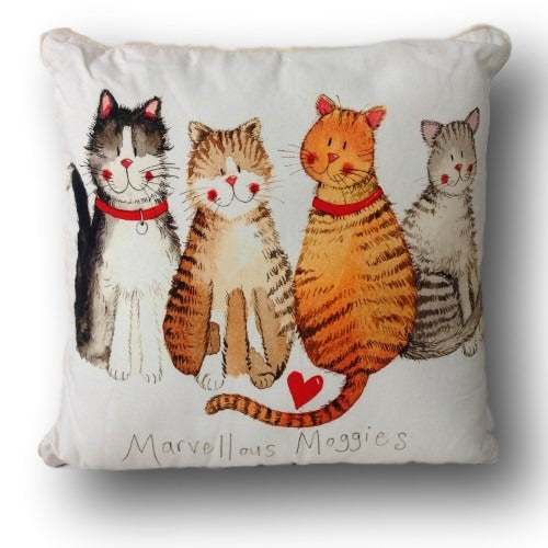 Marvellous Moggies Cat Cushion