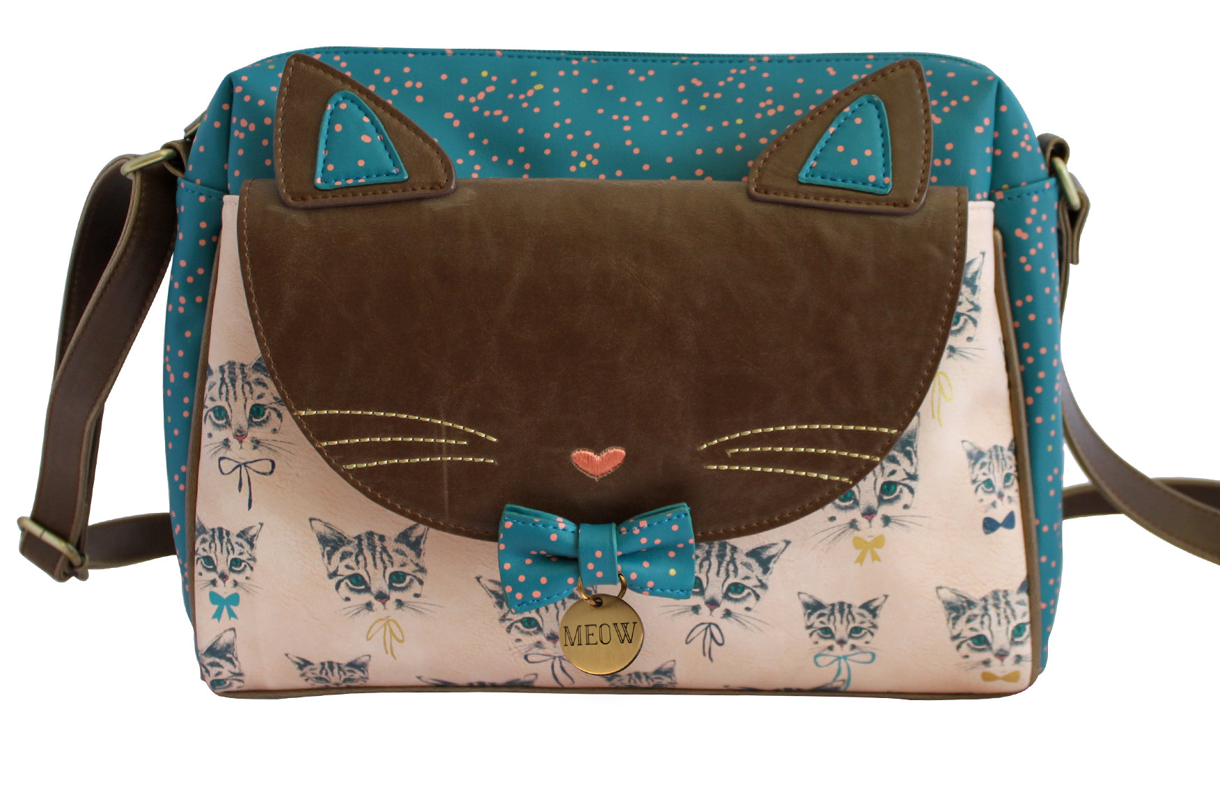Meow Satchel Cross Body Shoulder Bag