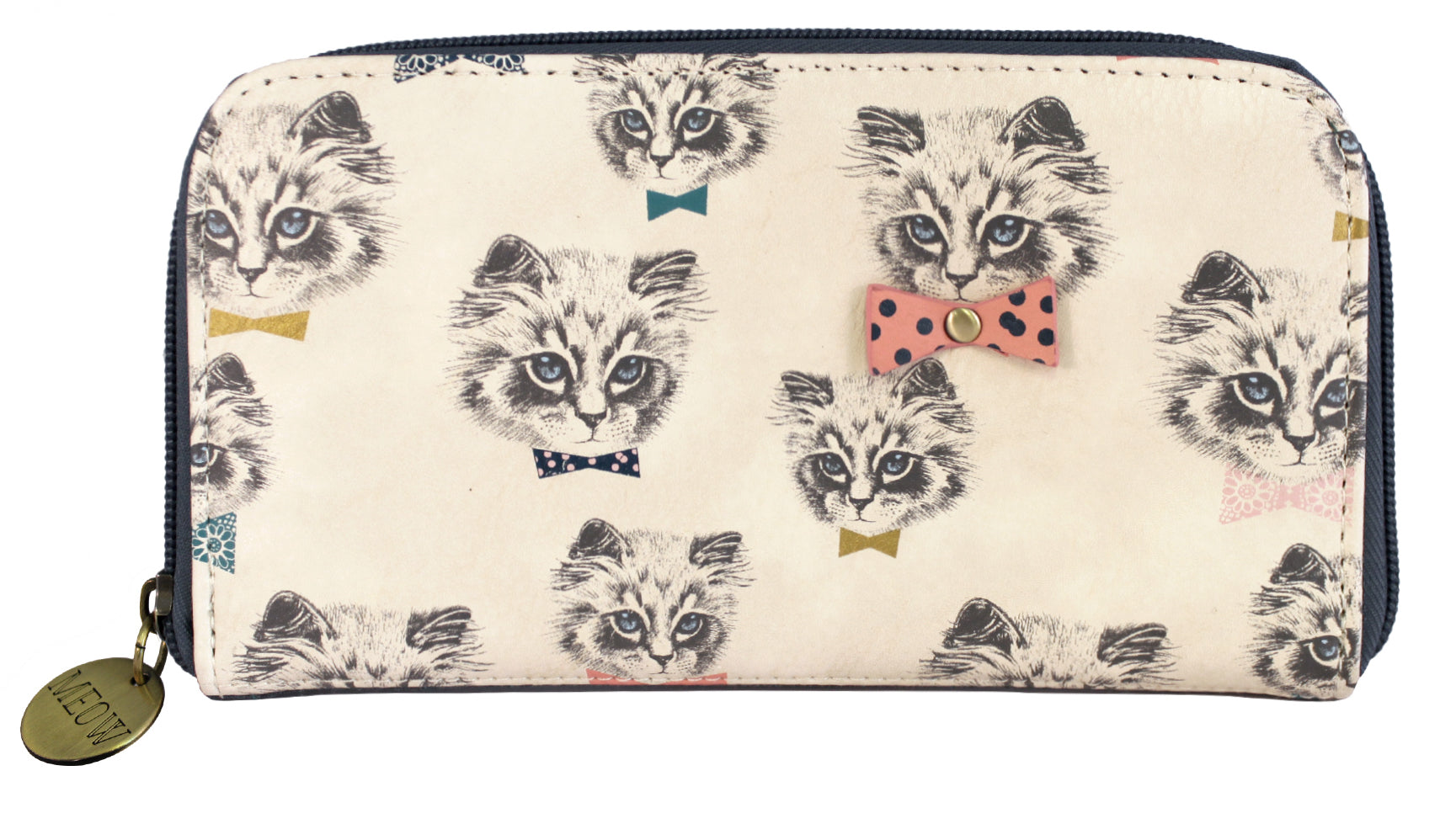 Blue Kitty Cat Design Purse