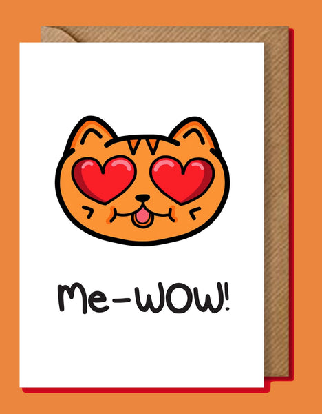 Me-WOW Ginger Cat Greeting Card