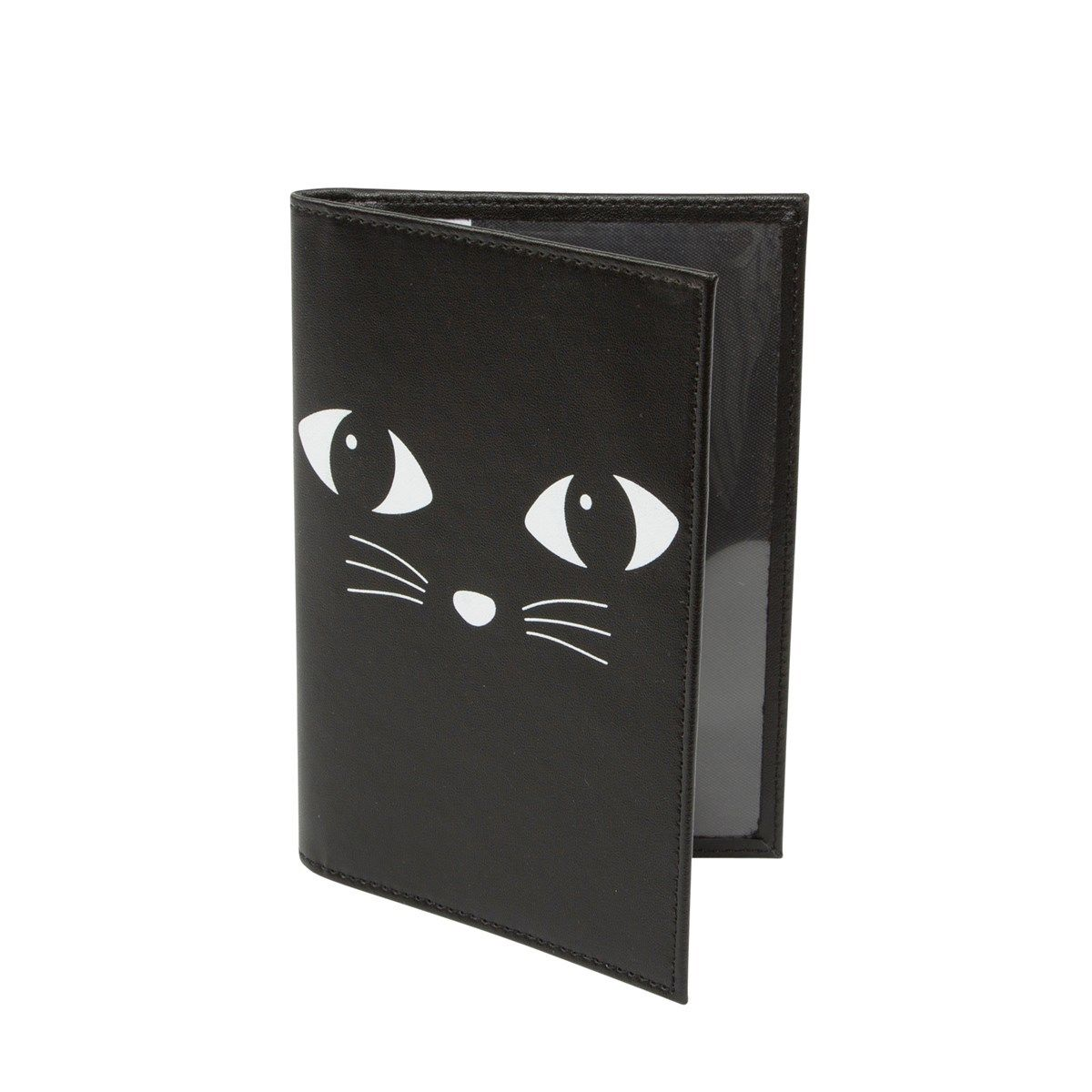 Black Cat Passport Holder / Wallet