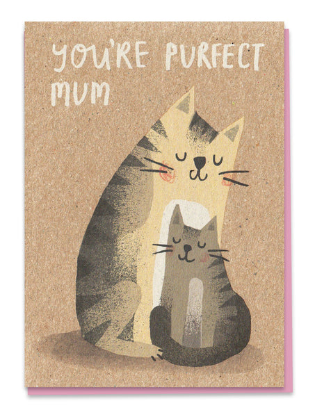 Youre Purfect Mum Mothers Day Cat Greeting Card