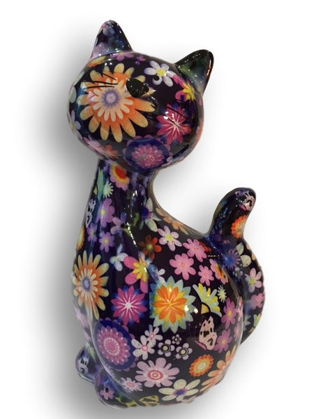 Purple Ceramic Pomme Pidou Caramel Cat Money Box