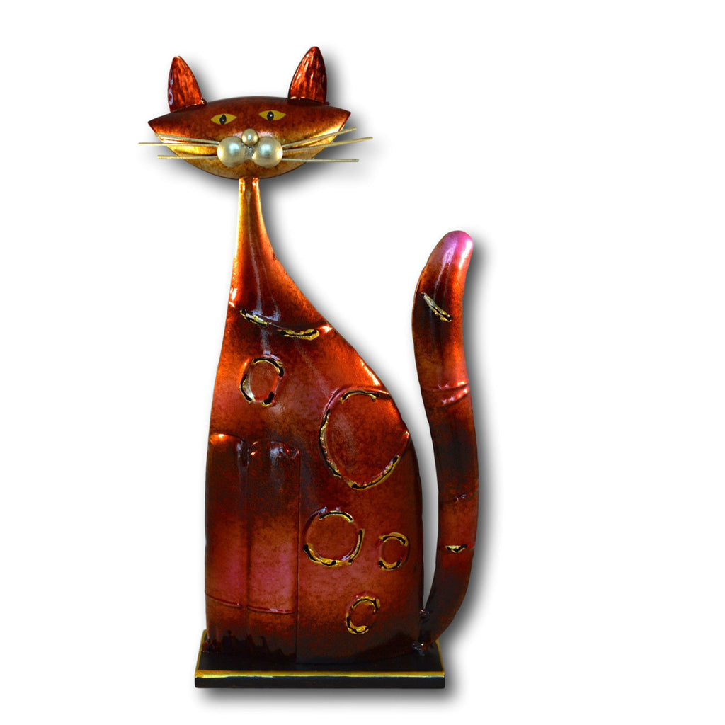 Red Metal Cat