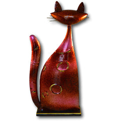 Colourful Metal Cat Statues (Choice of Colours)