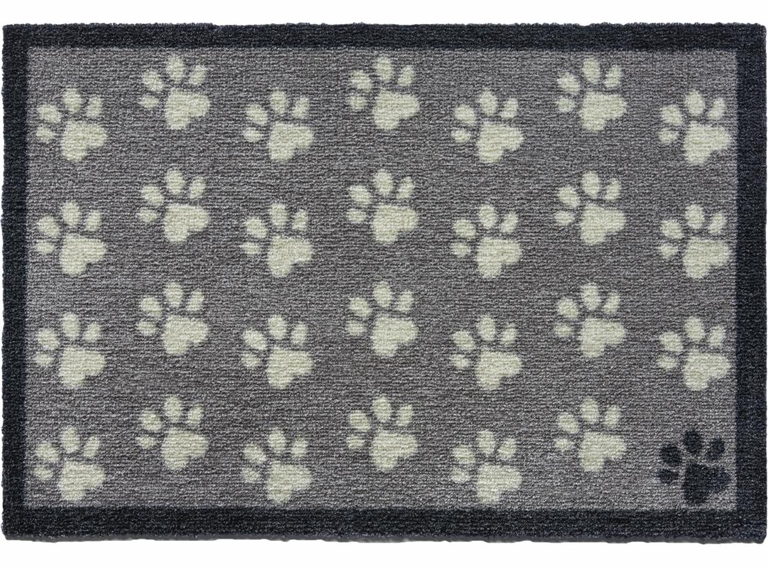 Grey Small Paws Door Mat