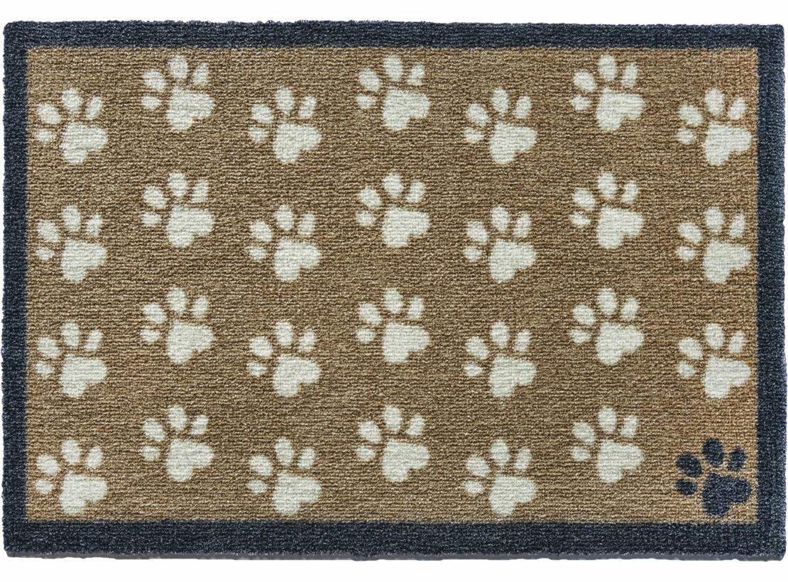 Brown Small Paws Door Mat