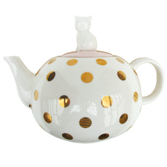 Polka Dot Cat Teapot
