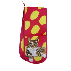 Tabby Cat Double Oven Gloves