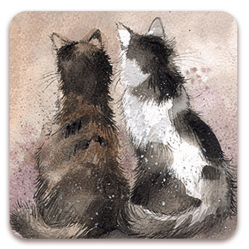 Set of 2 Tilly & Tabby Cat Coasters