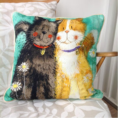 Toffee & Treacle Cat Cushion