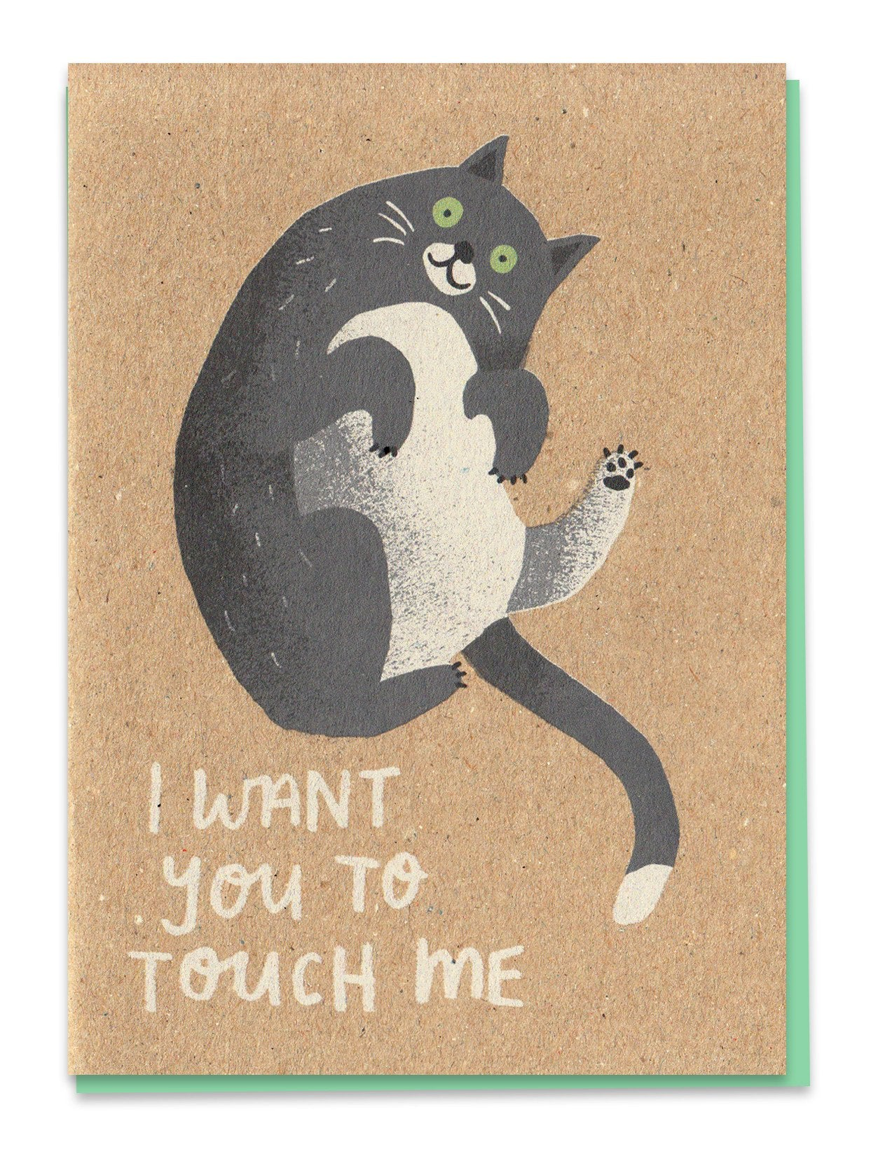 'Touch Me' Cat Greeting Card