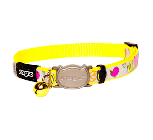 Rogz Dayglo Reflecto Cat Collar