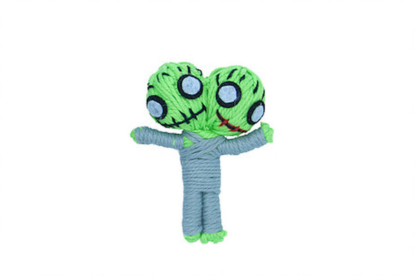 Zane the Zombie String Doll Catnip Toy