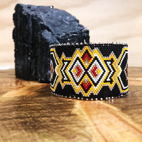 Tribal Beaded Cuff