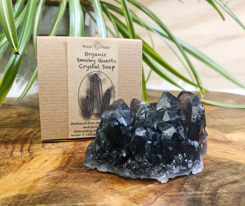 Organic Smoky Quartz Crystal Soap