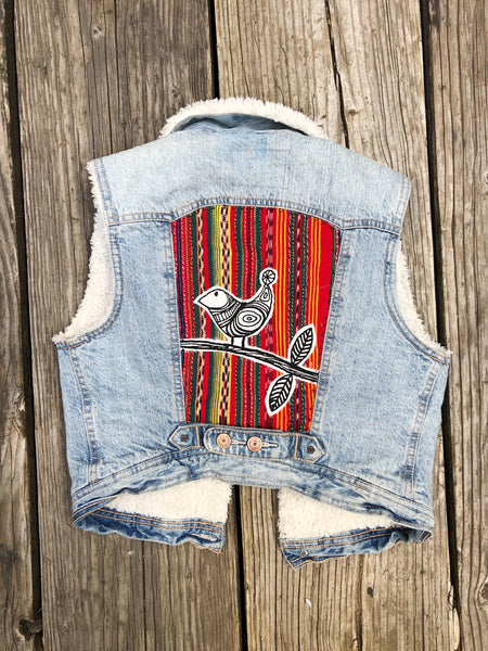 Up-cycled Denim Vest- Women's XSmall