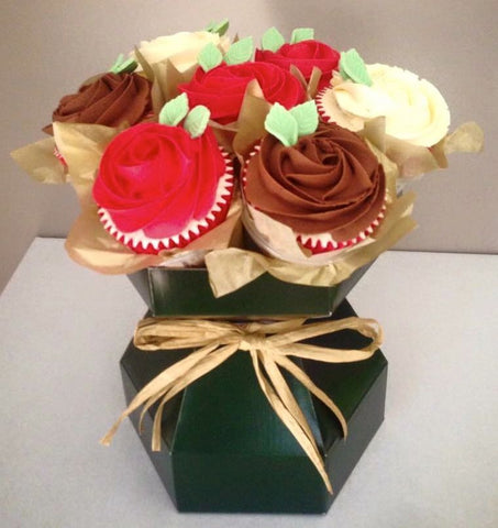 Cupcake Bouquet Box Natural Kraft Www