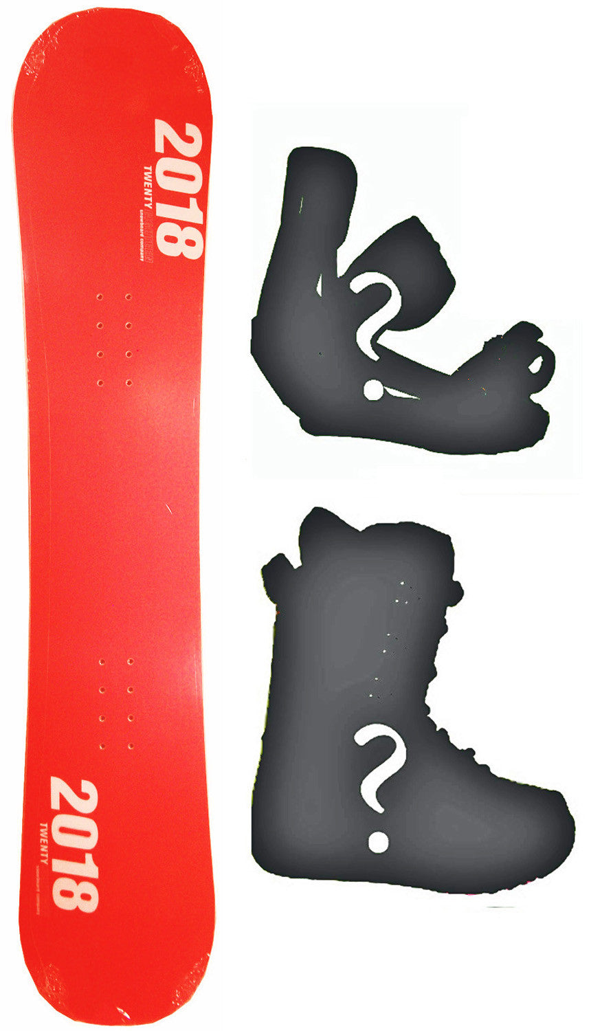 154cm  Black Fire Team Red Rocker Snowboard, Build a Package with Boots and Bindings