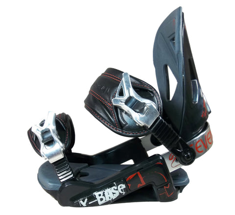24/7 X-Base Snowboard Bindings S/M Red-Black