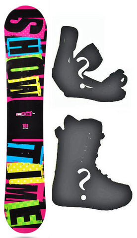 144cm 2B1 Showtime, Rocker  Mens Blem Snowboard, Build a Package with Boots and Bindings.