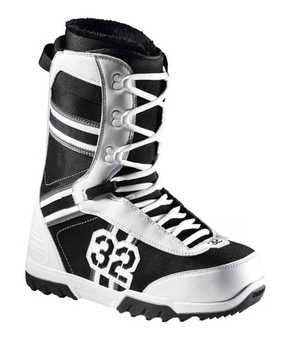 32 Exus. Snowboard Boots Size Mens 7 Black/Grey/White