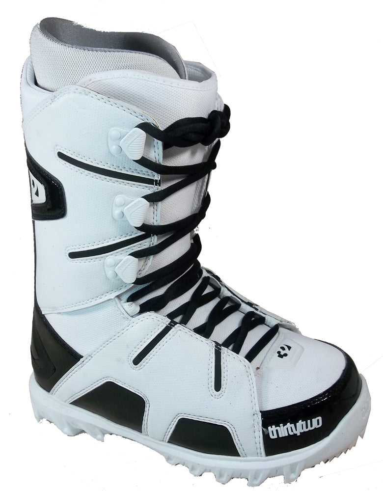 32 Lashed Snowboard *Blem* Boots Size Mens 8 Black/White