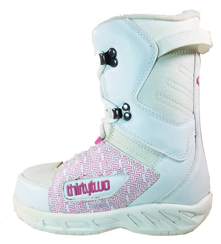 32 Lashed *Blem* Snowboard Boots Size Girls 2 Pink/White
