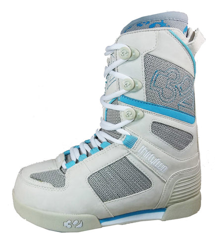 32 Prion Snowboard Boots Size Womens 5.5 White-Blue