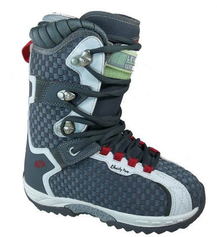 32 Vela Snowboard Boots Size Womens 5 Dark Gray/White/Red