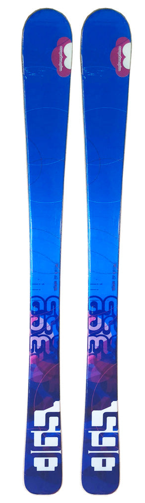 130cm 365 Andromeda Girls DH Skis Threesixtyfive 2nd Blue Purple