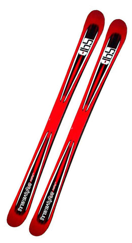 156cm 365 Zephyr Red Black Twin Tip Blem Skis 11.5 x 8 x 10.5