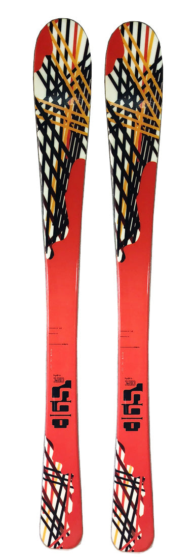 140cm 365 Hydro DH Skis Threesixtyfive Blemished Black Orange No Returns Final Sale