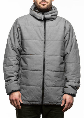 686 Warmix Puffy Jacket 10k Snowboard Ski Jacket Grey Men Small.