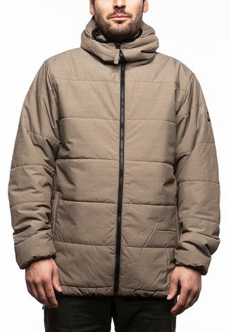 686 Warmix Puffy Jacket 10k Snowboard Ski Jacket Tobacco Men Large