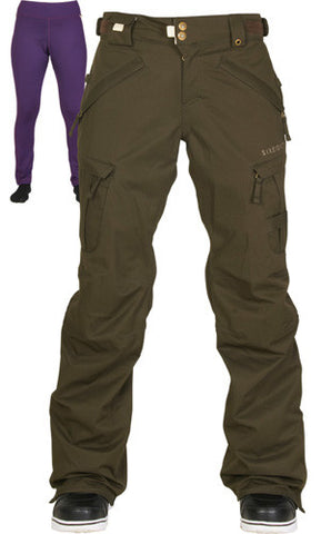686 Smarty Cargo Pants Womens XL Coffee