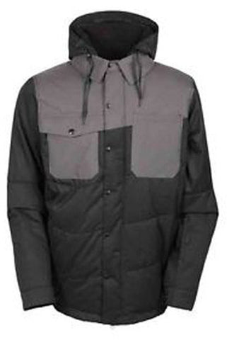 686 Woodland INS Jacket - Men's Black Heringbone XL