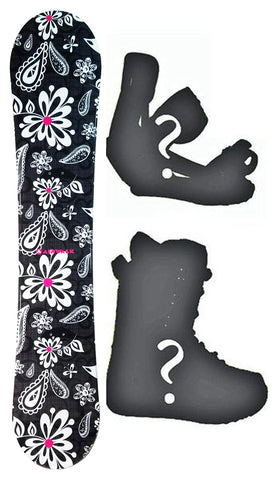 140cm Airwalk Island Black Camber Womens Snowboard, Build a Package with Boots and Bindings.