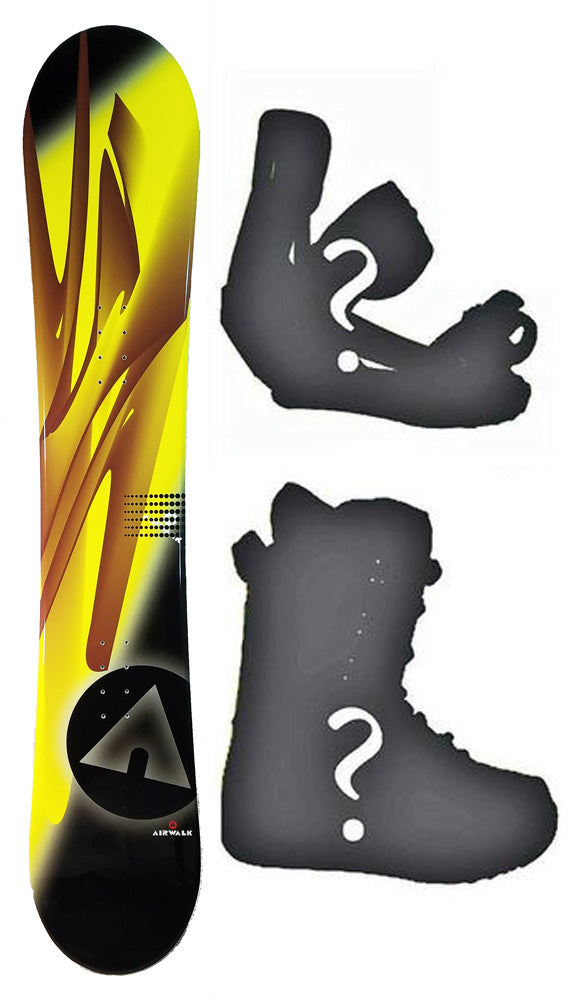 150cm Airwalk Kona Rocker Mens Snowboard, Build a Package with Boots and Bindings.