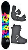 152cm Airwalk Tie Dye Camber Womens Blem Snowboard, Build a Package with Boots and Bindings.