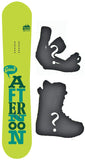 154cm  Afternoon Good Green Rocker Snowboard, Build a Package with Boots and Bindings