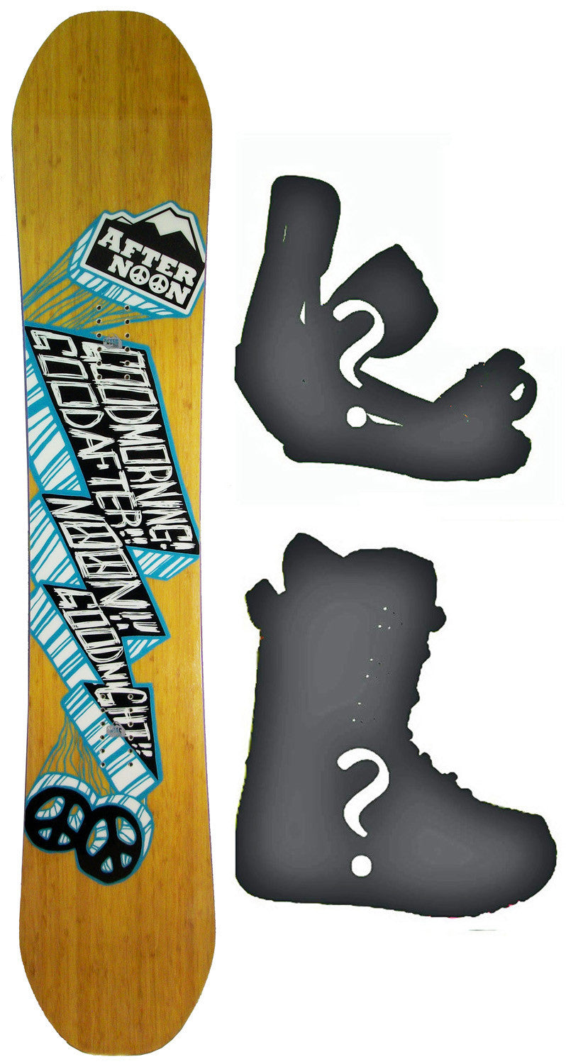 156cm  Afternoon Good Morning Rocker Snowboard, Build a Package with Boots and Bindings