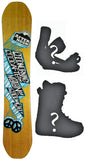 154cm  Afternoon Good Morning Rocker Snowboard, Build a Package with Boots and Bindings