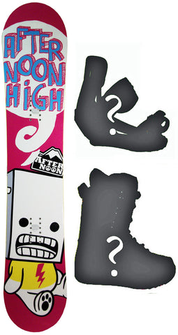 143cm  Afternoon High Pink Bolt Rocker Snowboard, Build a Package with Boots and Bindings