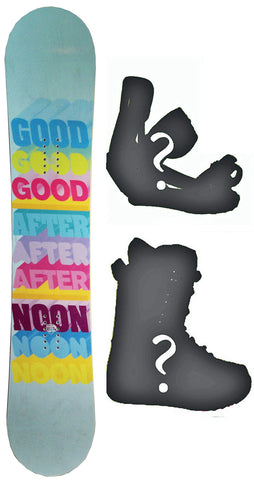 138cm  Afternoon Rainbow Blue Rocker Snowboard, Build a Package with Boots and Bindings