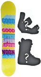 138cm  Afternoon Rainbow Yellow Rocker Snowboard, Build a Package with Boots and Bindings