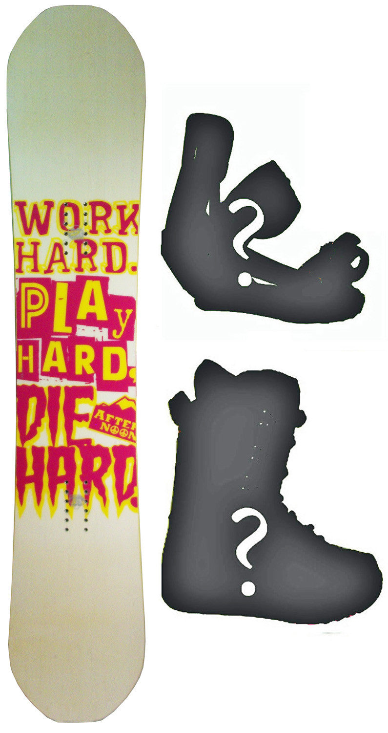 151cm  Afternoon Work Hard Pink Camber Snowboard, Build a Package with Boots and Bindings