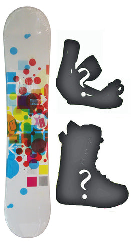 130cm  Airtracks Chocolate Camber Snowboard, Build a Package with Boots and Bindings